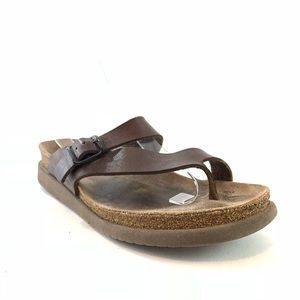 Mephisto brown leather sandals size 39